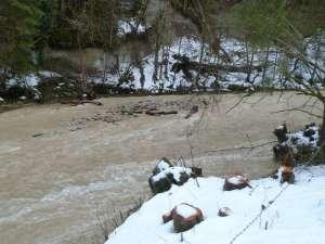 Winterhochwasser Grosse Fontanne
